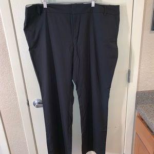 Pinstriped dress pants